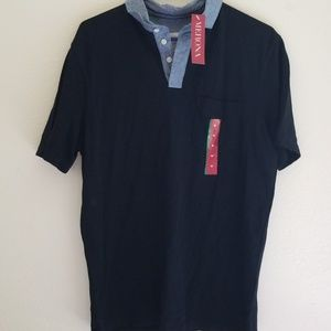 Merona mens size medium black polo shirt